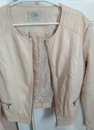 Женская куртка кожанка размер l4 фото