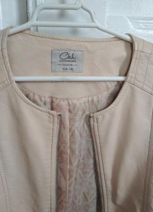 Женская куртка кожанка размер l5 фото