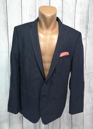 Пиджак стильный zara man, качество, т. серый