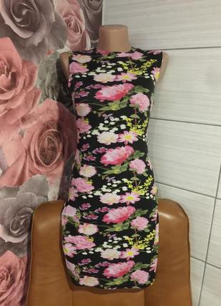 Красивое платье от фирмы  e-vie в цветочный принт,на 13 лет!