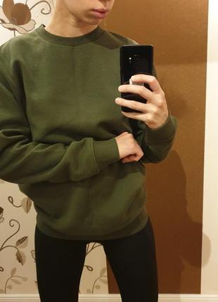 Clockhouse германия 2019 базовый свитшот s хаки милитари свитер джемпер пуловер тренд
