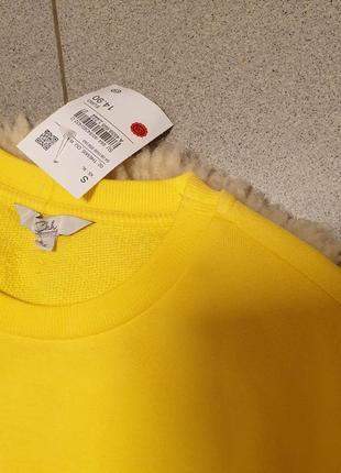 Clockhouse германия 2019 свитшот xs s m желтый свитер джемпер пуловер принт тренд5 фото