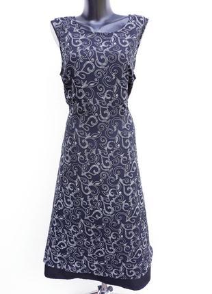 Чёрно белое платье летнее платье