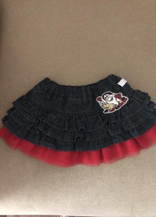 Джинсовая юбка на модницу