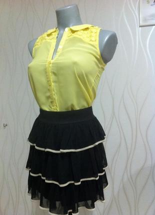 Супер нарядный, изумительно красивый,  шифоновый костюм miss selfridge