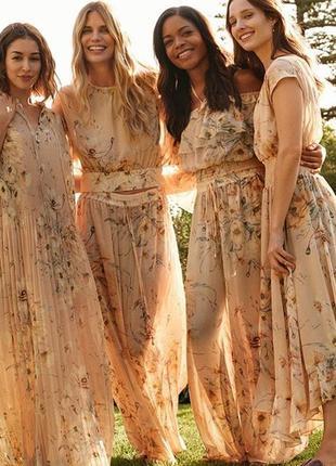H&m conscious плиссированное платье макси 40-42