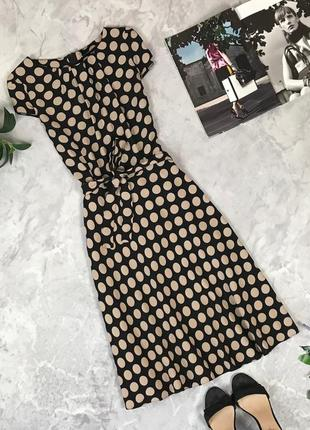 Вискозное платье в крупный горох  dr1920070 wallis