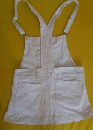 Крутой джинсовый комбинезон мини юбка