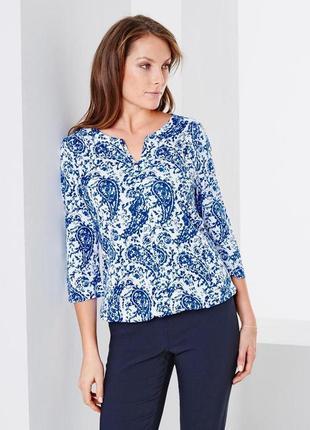 Tchibo новая фирменная хлопковая блуза, топ с укороченным рукавом 3/4 оригинал