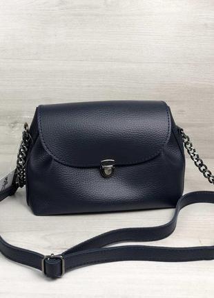 Маленькая черная сумка через плечо молодежная кроссбоди7 фото