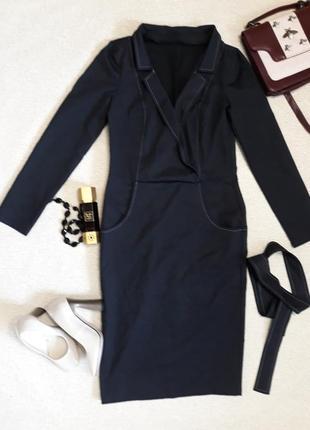 Платье в мелкую полоску