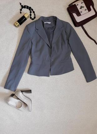 Серый пиджак 38 р only