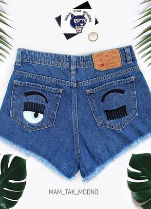Джинсовые шорты с глазками