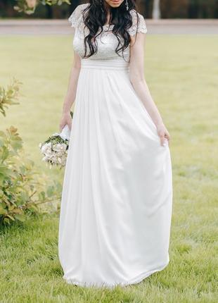 Нереально нежное свадебное платье4 фото