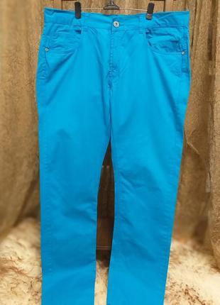 Сине голубые мужские джинсы portonova2 фото