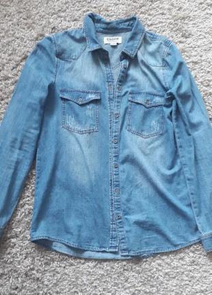 Джинсовая рубашка cropp!