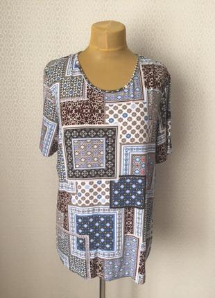 Классная футболка с марокканским принтом большой размер (xl) от canda (c&a)