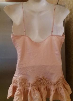 Топ в бельевом стиле-eva b.bitzer-цвет пыльной розы#1873 фото