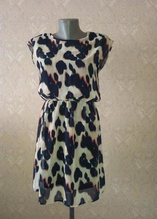 Стильное летнее платье, леопардовый принт