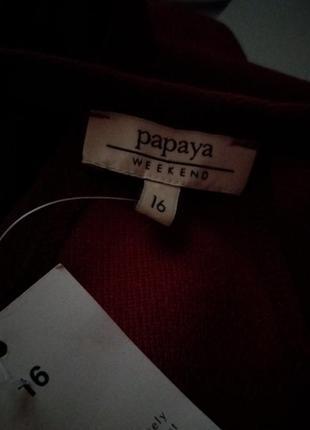 Топ цвета марсала  бренд- papaya-16рр4 фото