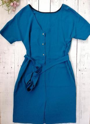 Платье zara , цвета морской волны, размер s (по бирке 165/84а) .