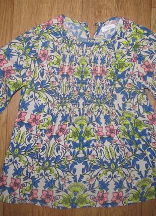 Фирменная блуза next девочке 7-8 лет