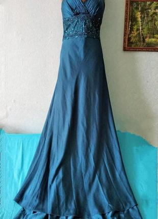 Шикарное вечернее платье изумрудного цвета lautinel