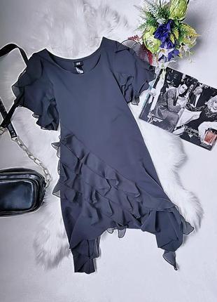 Нереально стильная туника/платье с воланами.
