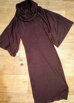 Необычное платье шоколадного цвета фирмы kikiriki