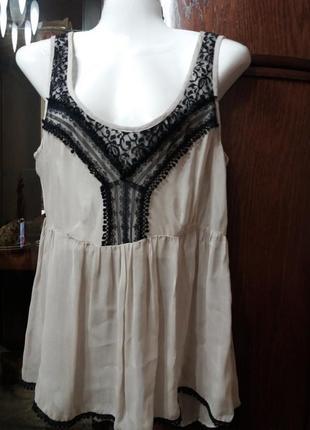 Блузка-майка в бельевом стиле бренд-ney-look-14р