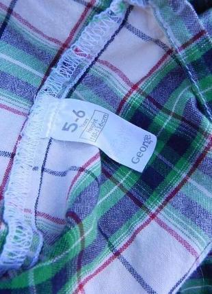 Рубашка george 5-6 лет 110-116 см3 фото