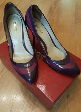 Туфли женские кожаные лак mascotte р-р 37-38