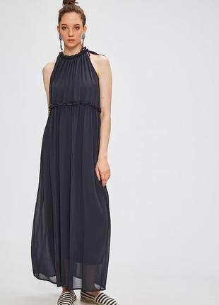 Новое темно - синее однотонное платье макси длинное only (бесплатная доставка)