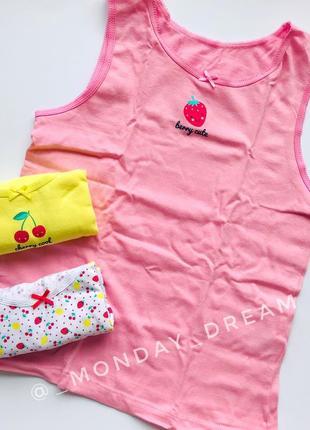 Детские майки с фруктами примарк для девочек 3шт1 фото