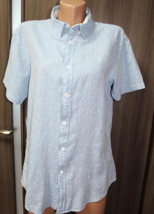 Натуральная рубашка springfield в идеальном состоянии m