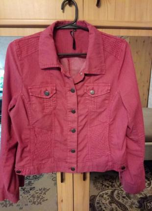 Распродажа летней коллекции - летняя куртка джинсовая р-р 52-54