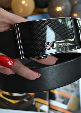 Ремень мужской кожаный классический (автомат)
