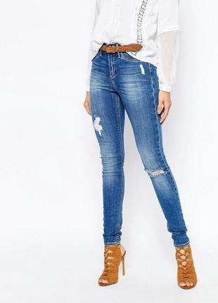Рваные джинсы river island molly 44 размер