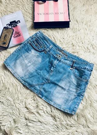Хлопковая джинсовая юбка