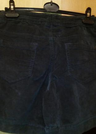 Серые вельветовые шорты-л-хл4 фото