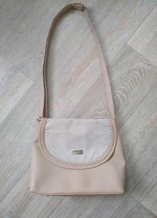 Новая брендовая сумка ted lapidus бежевого цвета, оригинал
