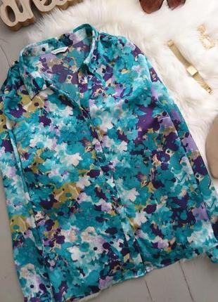 Актуальная невероятная яркая лёгкая блуза в принт №13max