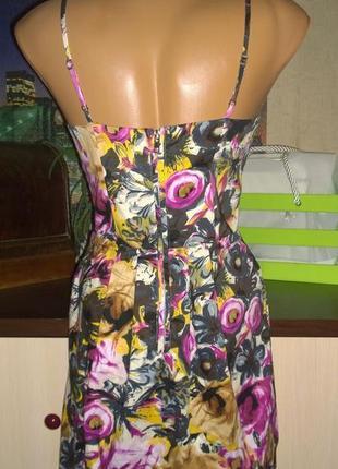 Платье на бретелях с трендовым цветочным принтом vila clothes2 фото
