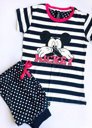 Женская пижамка микки маус примарк майка+штаны primark со скидкой primark