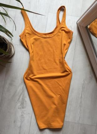 Платье майка горчичного цвета atmosphere