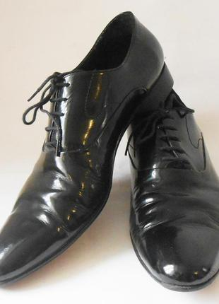 Качество! кожа! стильные мужские туфли, р.45 код n4501