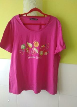 Яркая футболка летние фрукты от bonmarche2 фото