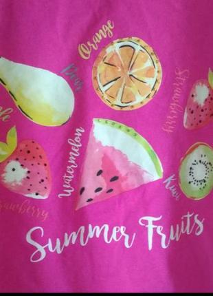 Яркая футболка летние фрукты от bonmarche3 фото