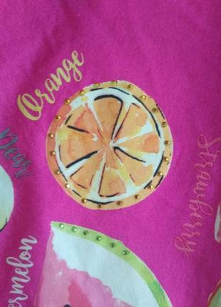 Яркая футболка летние фрукты от bonmarche4 фото
