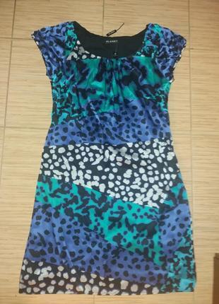 Платье китайский шелк 44-46р   planet абстракция